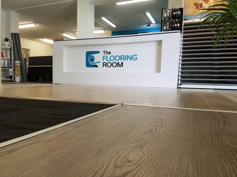 Timber flooring samples at The Flooring Room showroom